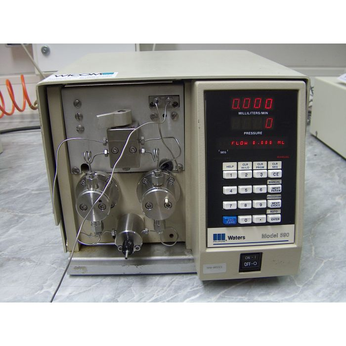 Waters 590 HPLC pump extended flow, back flushed, Swiss heads, used, tested