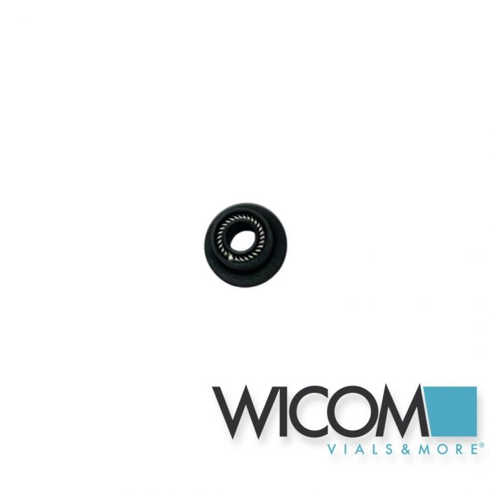 WICOM Black plunger seal for Jasco model LC-880, LC-980, 1580 and 2080, with 1/8...