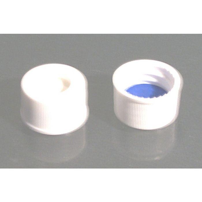 WICOM 13mm screw caps, white, with pre-inserted PTFE/silicone septum, for 4ml vi...