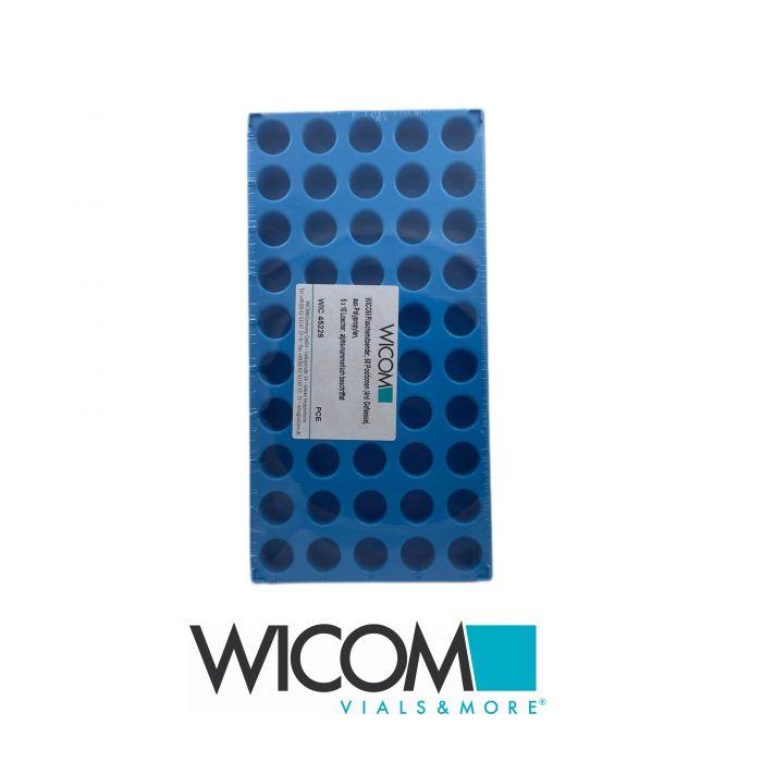 WICOM vial rack, 50 positions (4ml vials), made made made made made made made of...