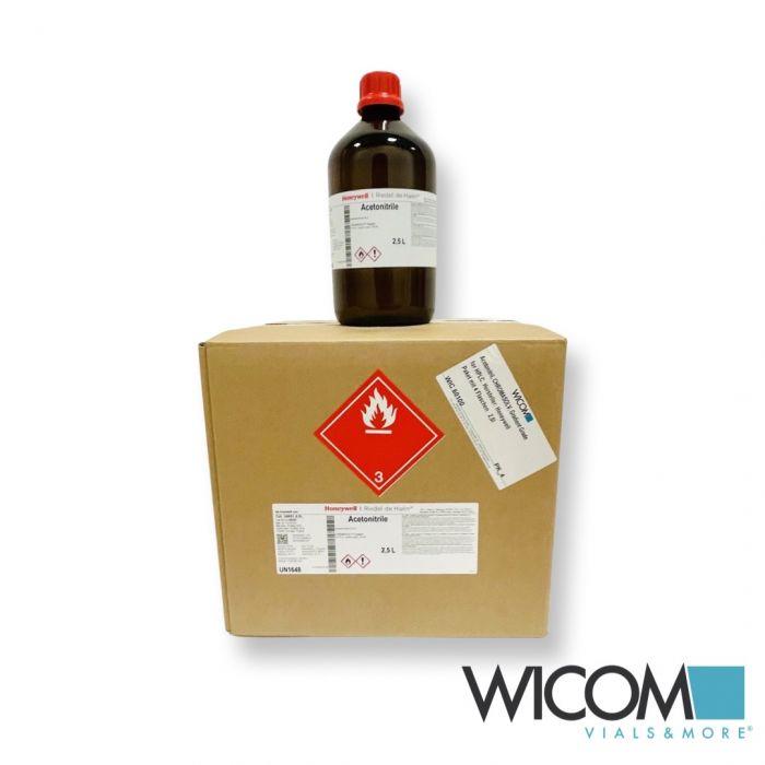 Acetonitrile, CHROMASOLV, Gradient Grade for HPLC. manufacturer: Honeywell Box w...