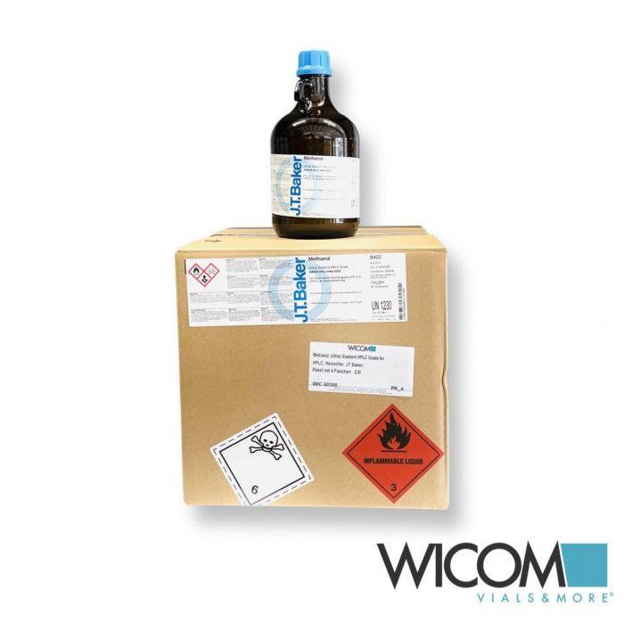 Methanol, Gradient Grade for HPLC manufacturer: JT Baker Box with 4 bottels á 2,...
