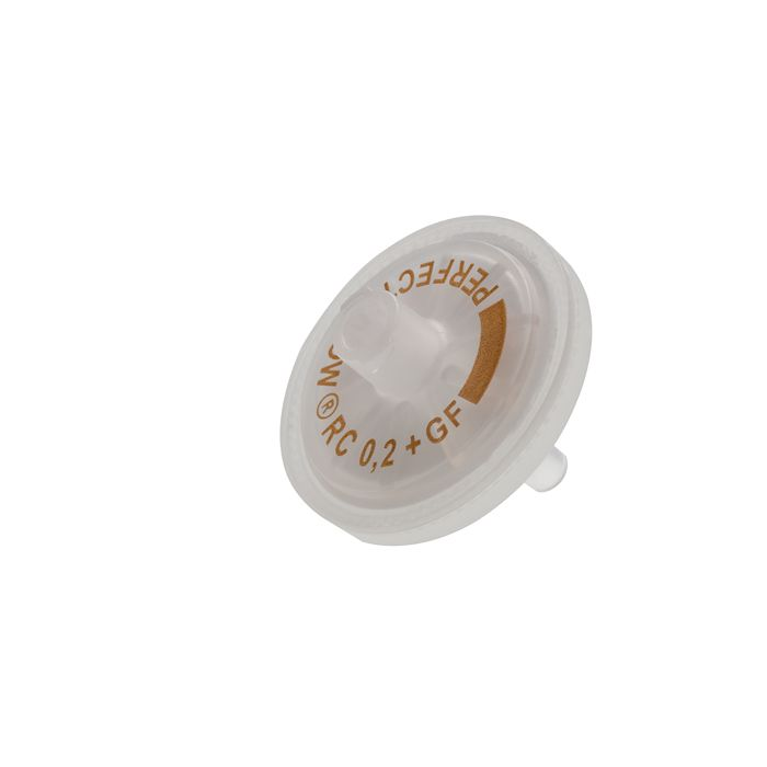 syringe filter 25mm, 0.2µm regenerierte Cellulose with glass fiber pre filter