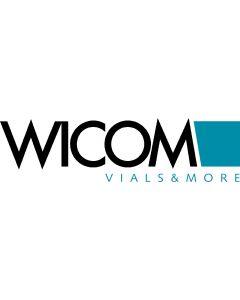 WICOM 9mm Schraubvial (Kurzgewindeflasche), Klarglas, 2ml, mit bereits aufgeschr...
