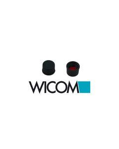 WICOM 8mm Schraubverschlusskappen, Polypropylen, schwarz, ohne Loch mit Silikon/...